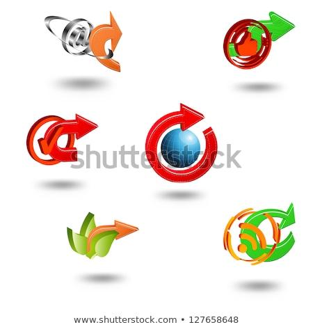 Rss körkörös vektor zöld webes ikon gomb Stock fotó © rizwanali3d