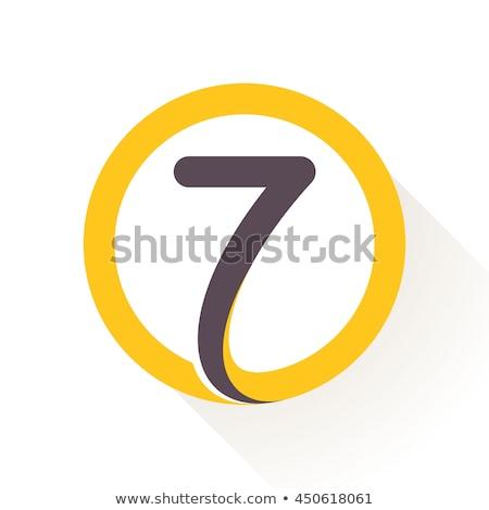 Szám vektor citromsárga webes ikon terv digitális Stock fotó © rizwanali3d