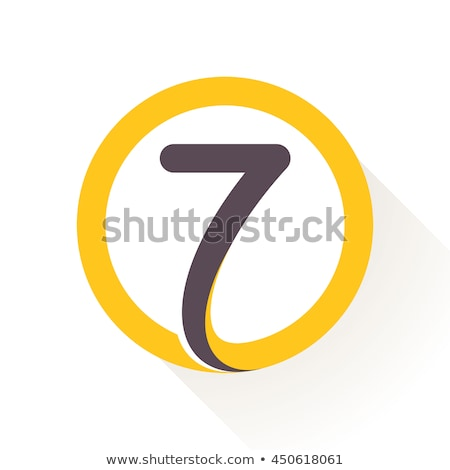 7 Number Vector Yellow Web Icon Stock photo © rizwanali3d