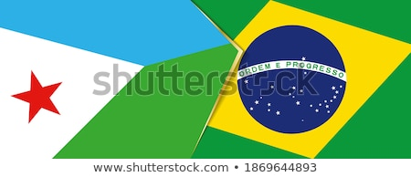 Brazil and Djibouti Flags Stock photo © Istanbul2009