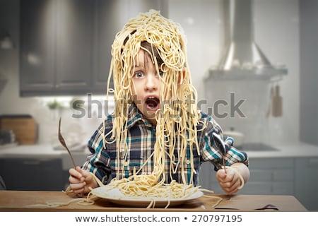 Foto stock: Spaghetti Head