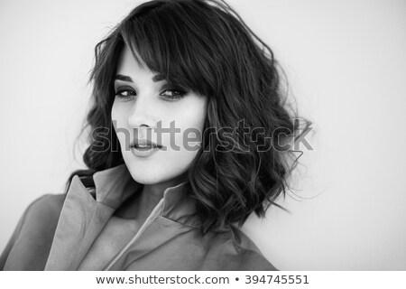 Jungen empfindlich weiblichen lockiges Haar sinnliche Stock foto © deandrobot