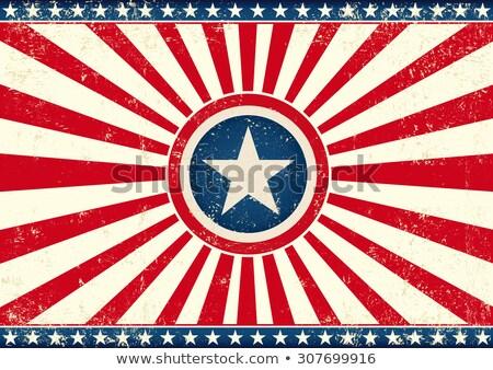 us sunbeams star horizontal flag stock photo © tintin75