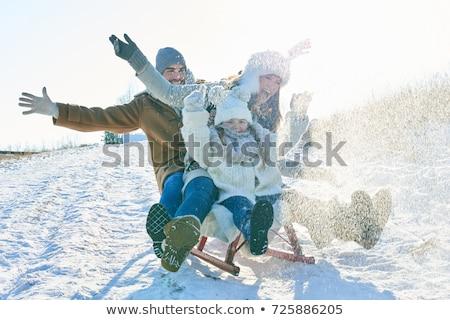 inverno · família · menina · sorrir · homem · feliz - foto stock © Paha_L