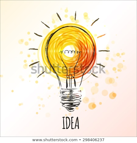 Идея желтый вектора икона дизайна свет Сток-фото © rizwanali3d