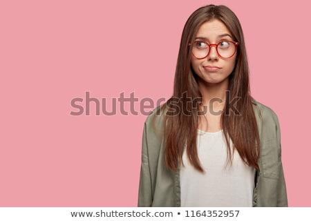 夢のような 若い女の子 クローズアップ 美しい 女性の顔 嘘 ストックフォト © ssuaphoto