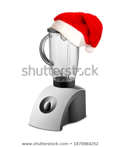 food blender with christmas hat stock photo © shutswis