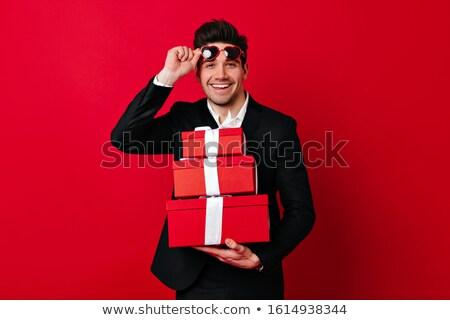 Jonge man vak man sexy Rood Stockfoto © nickp37