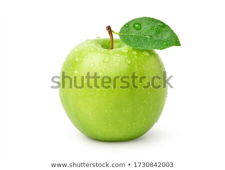 Green apple with drops isolated Stock photo © Supertrooper