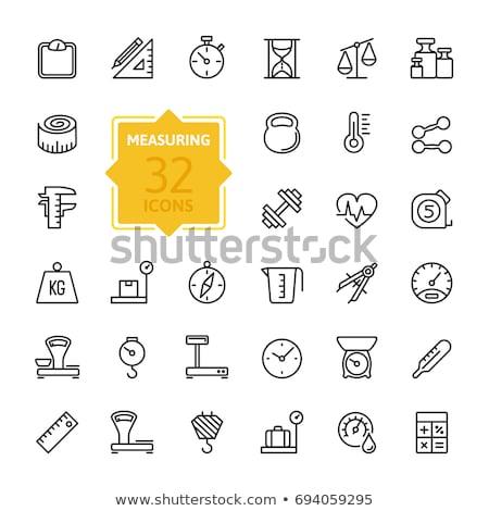 Kettlebell vonal ikon sarkok háló mobil Stock fotó © RAStudio