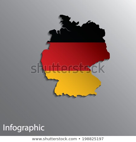 Germany and EU Flag Blend Stock photo © Bigalbaloo