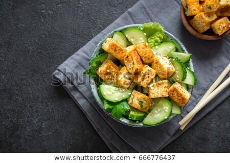 緑 · サラダ · フライド · チーズ · ピース · 食品 - ストックフォト © Digifoodstock