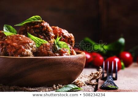 Pork meat in tomato sauce Stock photo © Digifoodstock