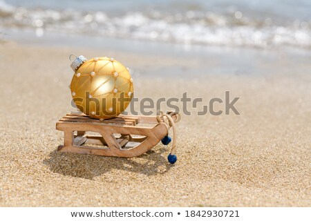 Navidad vertical vector dorado plata Foto stock © vectorikart