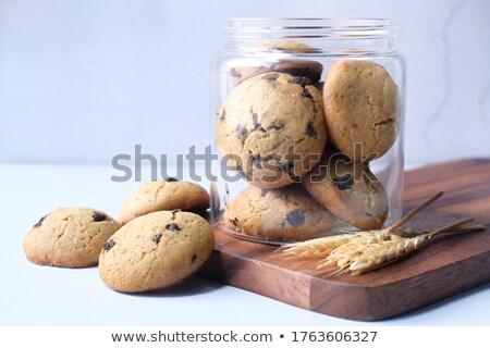 suchar · jar · pusty · etykiety · odizolowany · biały - zdjęcia stock © kitch
