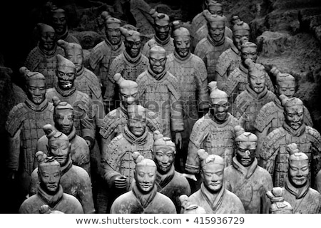 Stock photo: Xian China Terra Cotta Warriors