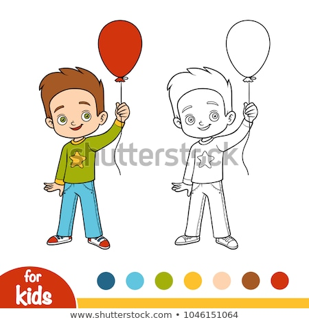 A worksheet with a young boy Stock photo © bluering
