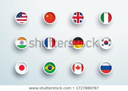 nagrobek · banderą · 3D · śmierci · kamień - zdjęcia stock © oakozhan