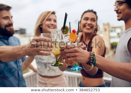Four glasses of cocktail drinks Stock photo © bluering