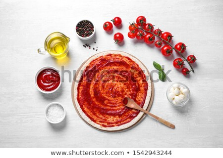 Pizza margherita with ingredients Stock photo © olira