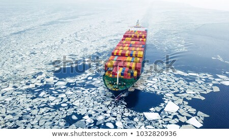 Harbor and ships in the winter Stock photo © Klinker