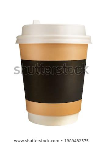 papír · kávé · csésze · terv · étel · reggeli - stock fotó © sdCrea