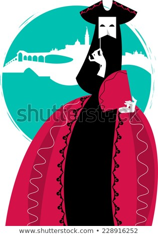 woman in venetian carnival dress Stock photo © ssuaphoto