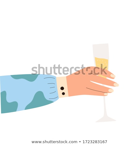 sparkling wine in a womans hand stock photo © gsermek