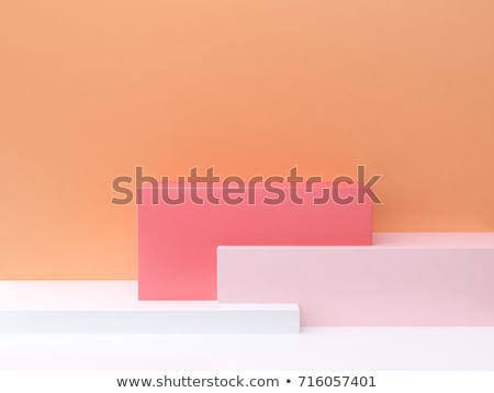 Abstract background with overlapping red cubes Stock photo © SwillSkill