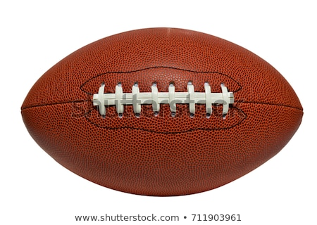 Close up of rugby ball on white Stock photo © tish1