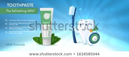 Schild tand gom medische tandheelkundige illustratie Stockfoto © Krisdog