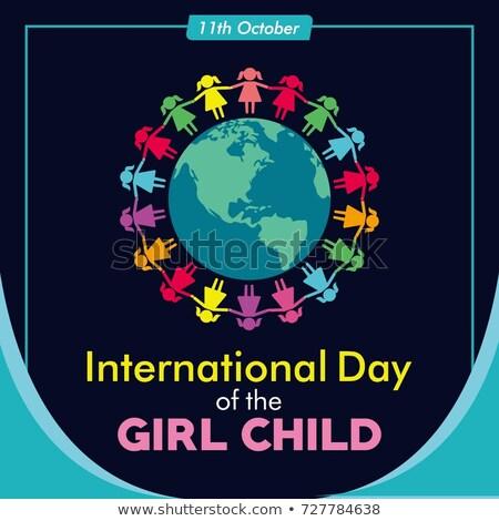 october  International Day of the Girl Child Stock photo © Olena