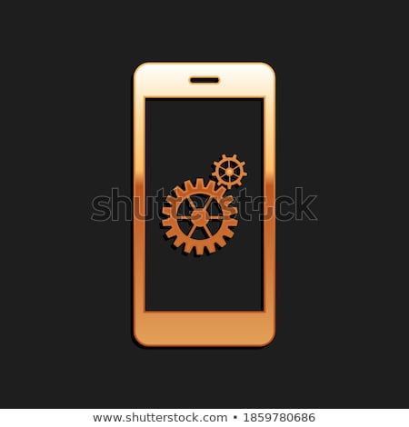 Wartung Business golden Zahnräder Mechanismus Stock foto © tashatuvango