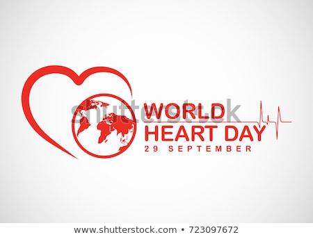 Foto d'archivio: Mondo · cuore · giorno · vettore · banner · internazionali