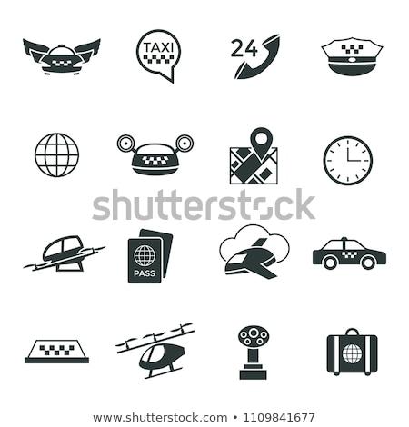 Foto stock: Digital · vetor · voador · táxi · empacotar