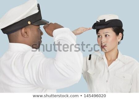 jeunes · marines · femme · mode · portrait · chapeau - photo stock © CandyboxPhoto