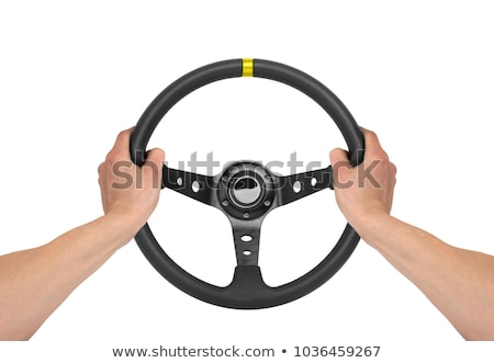 Man holding steering wheel Stock photo © ra2studio