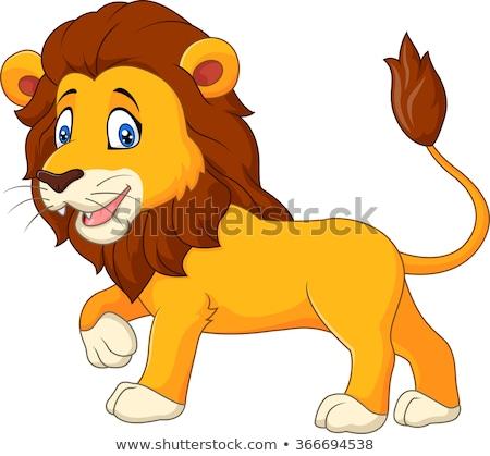 Cartoon Happy Lion Cub Stock photo © cthoman