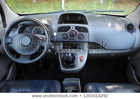 modern · araba · iç · sürücü · düğme - stok fotoğraf © ruslanshramko
