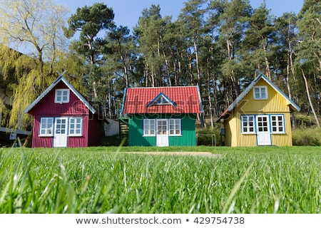 three house in nature landscape stock photo © bluering