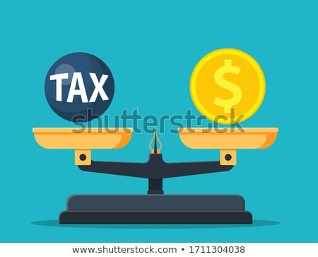 Income Taxes Balance Scale Concept Stock photo © ivelin