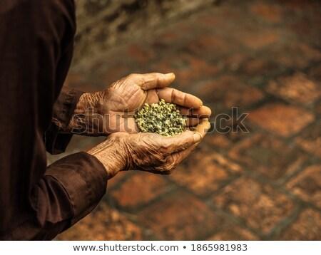 Clay pots - Offerings for Buddhist monks Stock photo © galitskaya