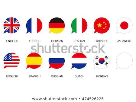 Speech bubbles with Europe and Japan Stock photo © Ustofre9