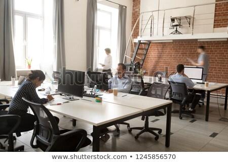 Moderno interni ufficio spazio computer Foto d'archivio © artjazz