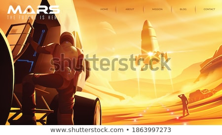 space colonization concept landing page stock photo © rastudio