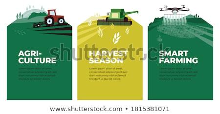 Maszyn plakat tekst urządzenie gleby pług Zdjęcia stock © robuart