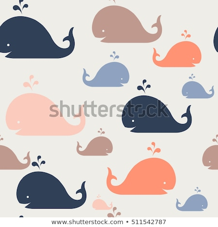 Cartoon whale with a sign stock photo © bennerdesign