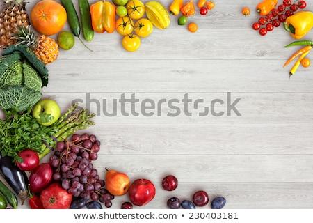 Wiele owoców ilustracja drewna charakter Zdjęcia stock © colematt