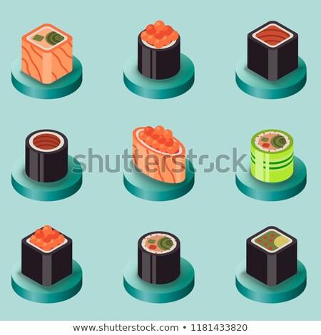 寿司 アイコン eps 10 魚 卵 ストックフォト © netkov1