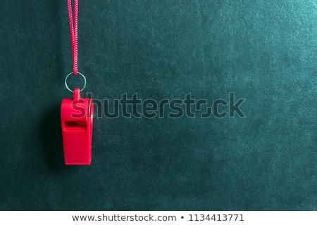 Vermelho assobiar isolado preto esportes polícia Foto stock © sonia_ai
